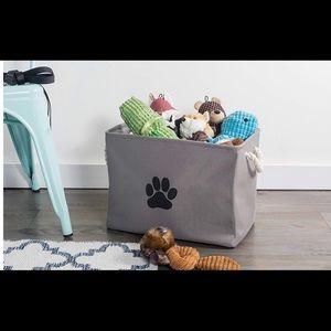 🎀Dog Toy Storage Basket Gray Brand New🎀